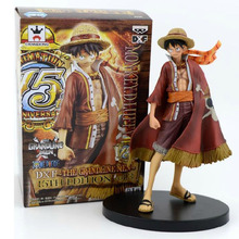 Free Shipping 14cm Japanese Anime One Piece The 15th Anniversary of The Animation PVC Doll Action Figure