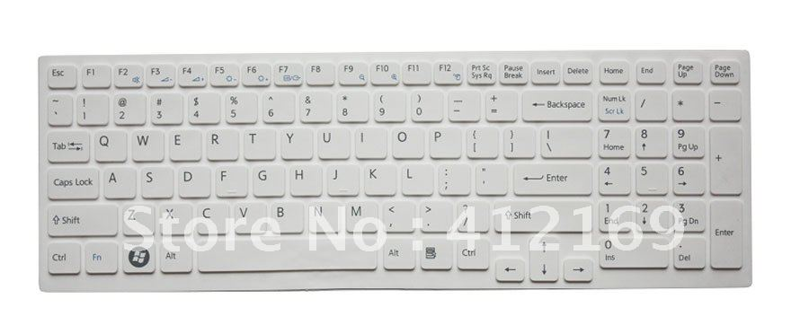 New white laptop Keyboard Skin Cover Protector for Sony Vaio EB/E15(China (Mainland))