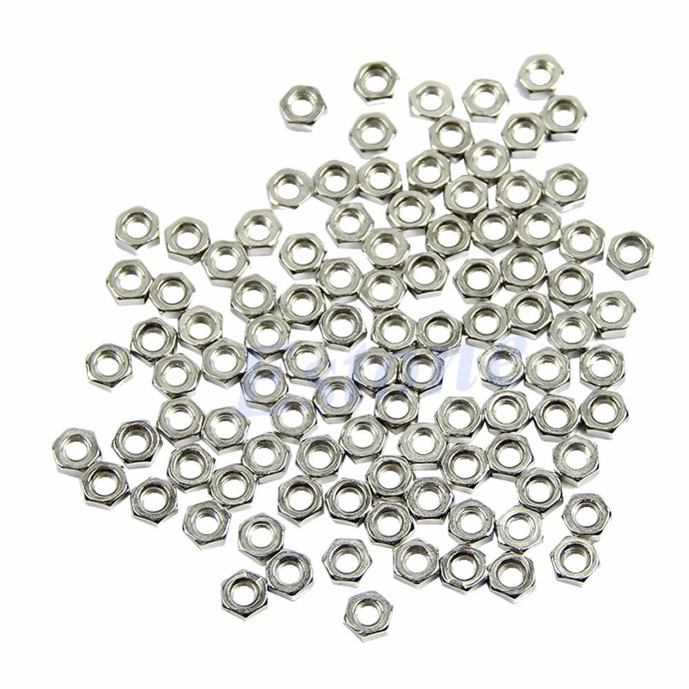 Гаджет  J35 Free Shipping 100pcs M3 Dia 3mm Hex Screw Nut Stainless Steel Nuts Good Quality DIY New None Аппаратные средства