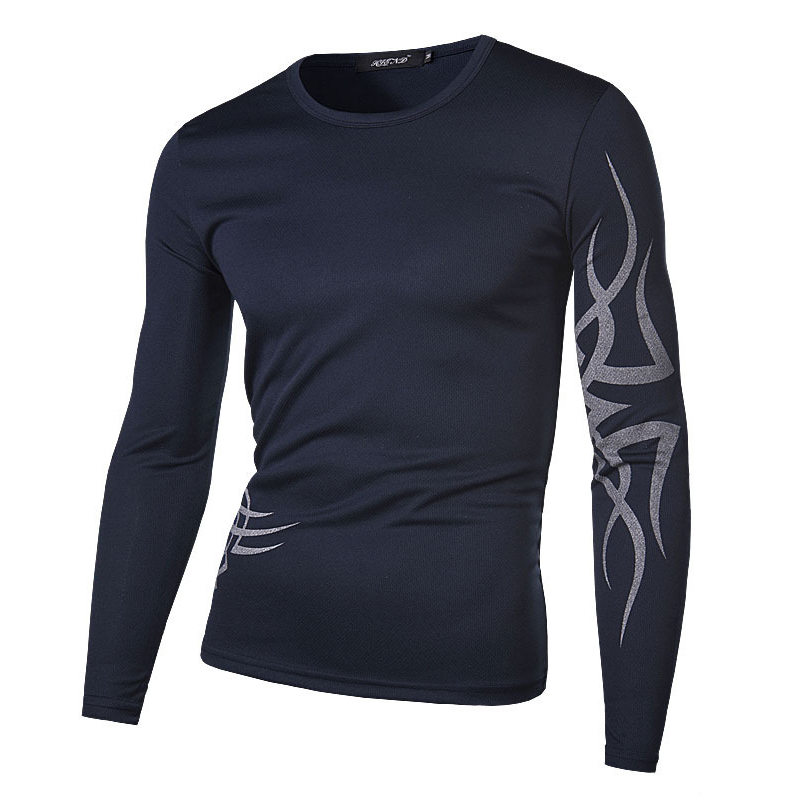 2016 Hot Sale Long Sport T-shirt Men Outdoor Running Clothing Football Training Jersey Men New Cool Print Long Sleeve Clothing(China (Mainland))