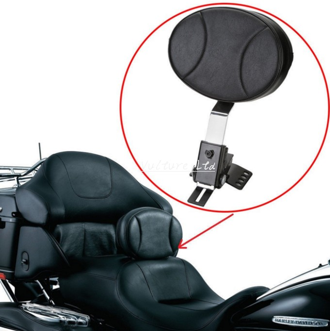 Motocycle leather Plug In Driver Rider seat Backrest Kit Custom Made For Harley Touring FLTR FLHT FLHR models(China (Mainland))