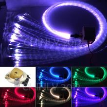 16W Remote RGBW Twinkle sparkle fiber optic decoration 300pcs 1.0mm flash point 3meter waterfall sensory light kit(China (Mainland))