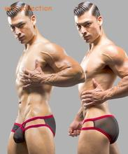 Net underwear Sexy Men's Briefs See-Through Mesh Fabric underwear free shipping