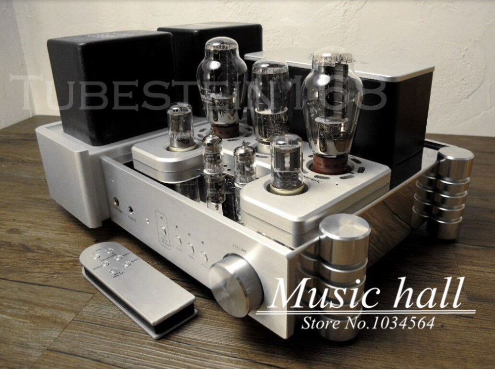 YAQIN MS-300C 300Bx2 Vacuum Tube Hi-end Single-ended class A Tube Integrated Amplifier PUS with remote control(China (Mainland))