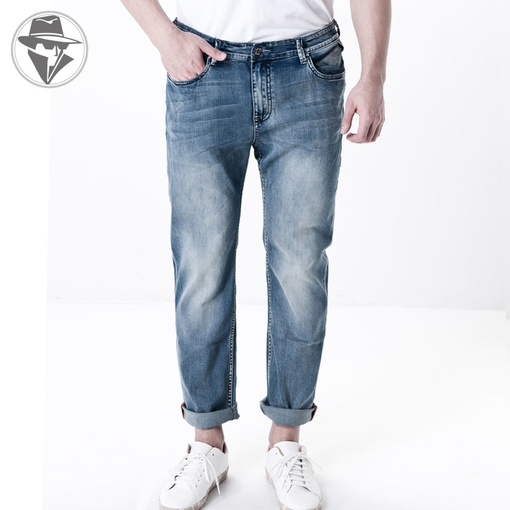 Leepen Fashion Plus Size Mens Jeans Big &amp; Tall Slim Pencil Straight Jeans  Enzyme Wash Whiteout Fine Quality Men Jeans LP1009Одежда и ак�е��уары<br><br><br>Aliexpress