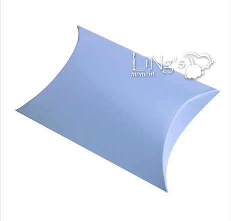 Free Shipping Hot 100X Blue Small Paper Pillow Favour Boxes Wedding/Gift/Party(China (Mainland))