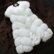 באיכות גבוהה פרווה אפוד מעיל יוקרה פו שועל חם נשים מעיל וסטים חורף אופנה פרוות נשים של מעילי מעיל Gilet veste 4XL(China)