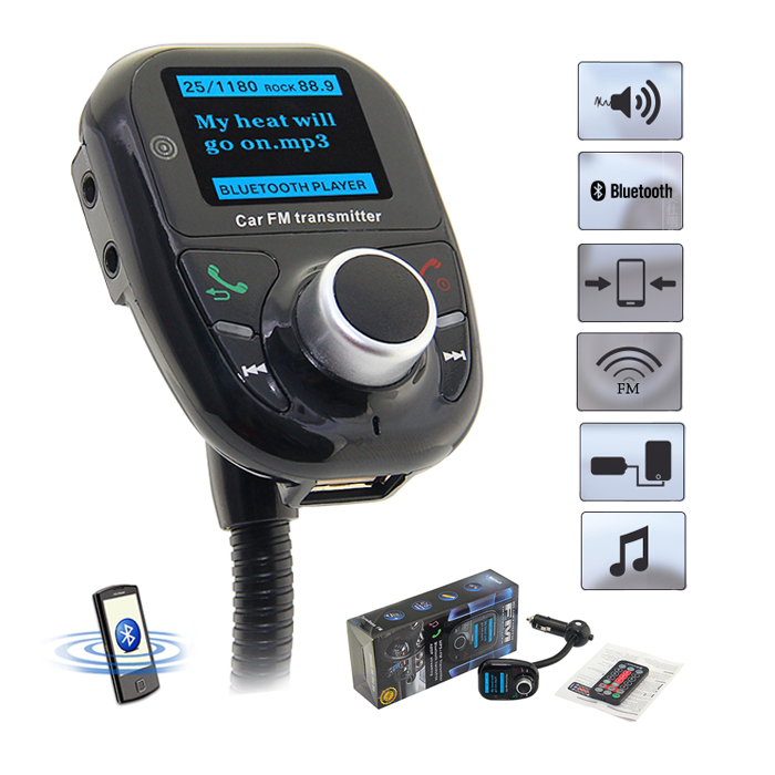 Bluetooth FM Transmitter Car MP3 Audio Player Wireless FM Modulator Car Kit Hands-Free Talk A2DP Car Battery Voltage Display New(China (Mainland))
