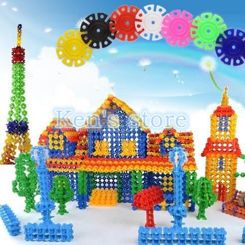 150pcs Snow Snowflake Building Blocks Toy Bricks DIY Assembling Classic Toys Early Educational Learning Toys Free Shipping(China (Mainland))