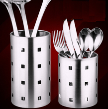 Buy Stainless steel chopsticks tube tableware storage rack drain rack shovel spoon bucket knife fork storage Box Kitchen utensils for $7.09 in AliExpress store