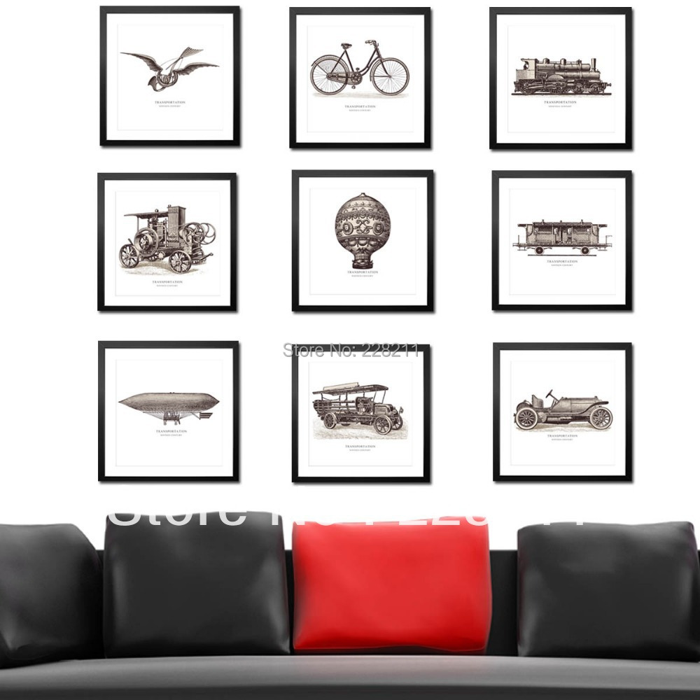 Free shipping dhl 9 pieces modern wall paintings decor for Modern home decor pieces