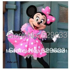 Pink Minnie Mouse Adult Size Cartoon Mascot Costumes For Of Kids()