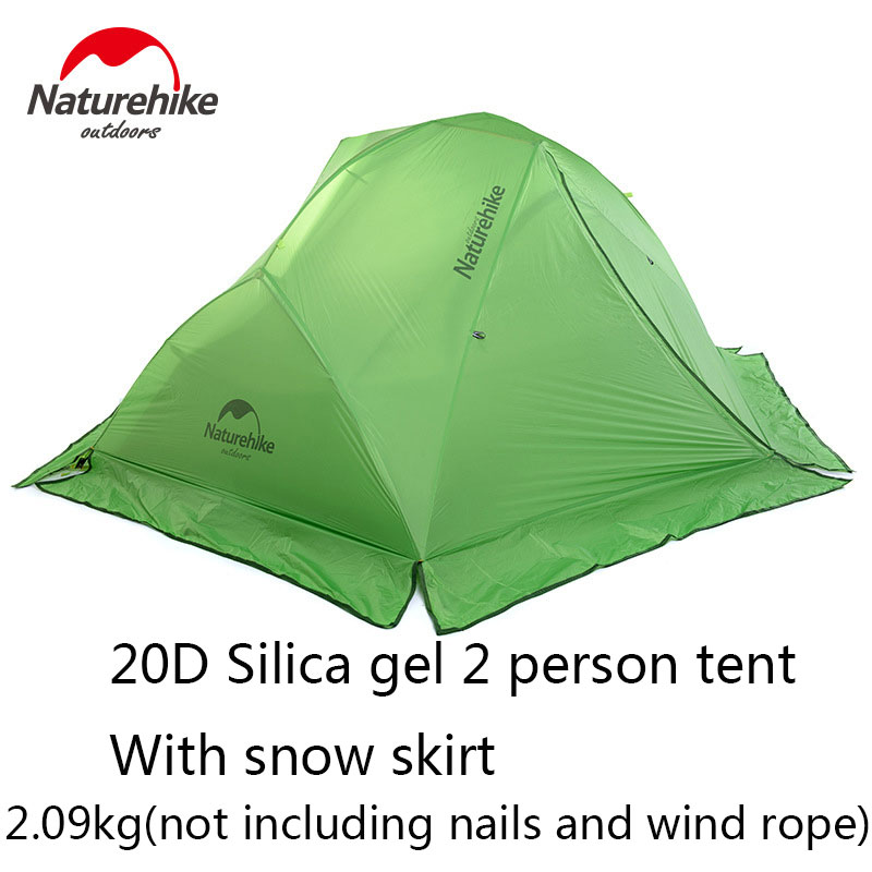 NH High quality 1-2 Persons Outdoor Tent Super Light Camping Double Tent Aluminum rod Tent Windproof Rainproof Waterproof Tents(China (Mainland))