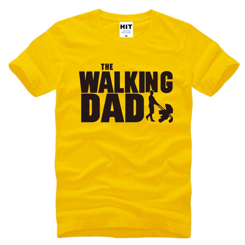 HTB1oKqSKFXXXXbjXFXXq6xXFXXXX - The Walking Dad Fathers Day Gift Men's Funny T-Shirt T Shirt Men 2016 New Short Sleeve Cotton Novelty Top Tee Camisetas Hombre
