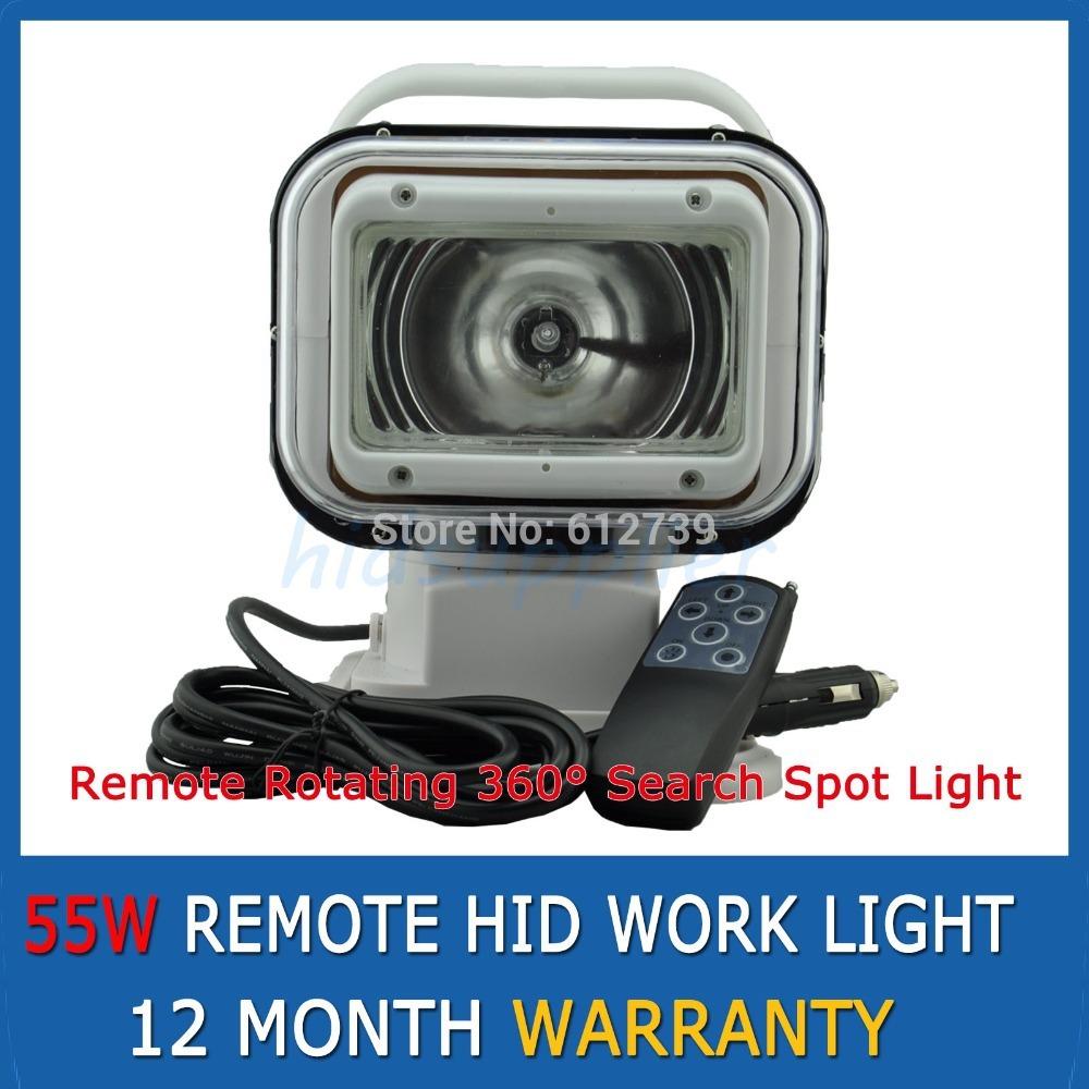 1 Pcs White 35W/55W HID XENON Spotlight Lamp Search Boat Hunting Fishing Car Wireless Remote Control