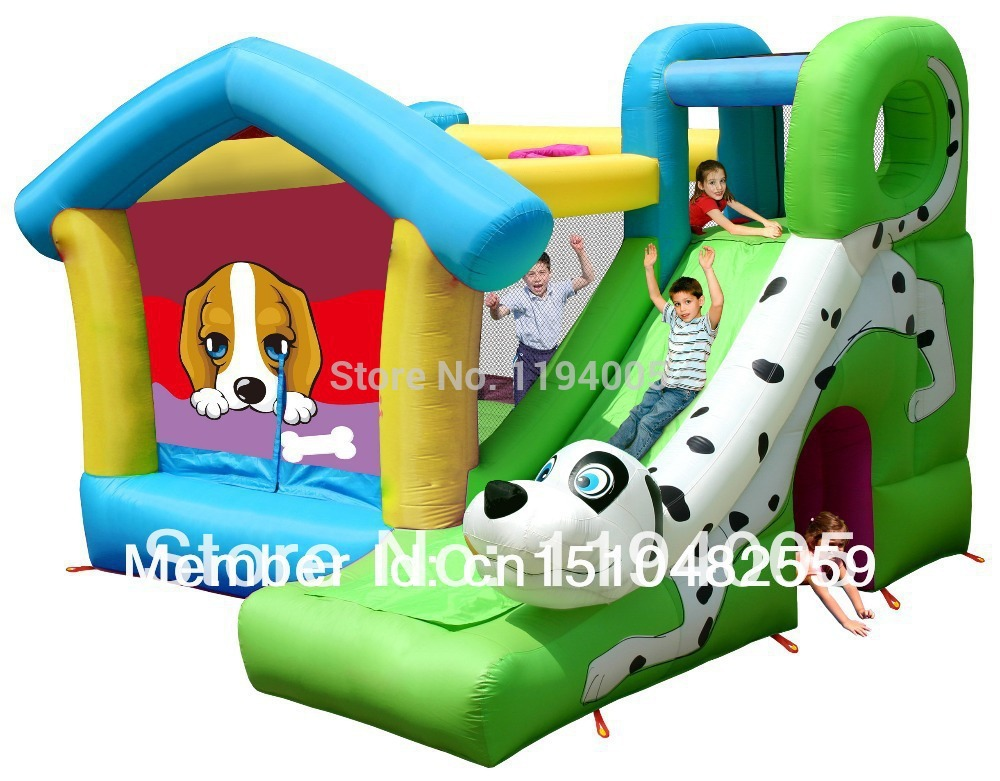 inflatable bouncer trampoline castle New Year and Christmas Kids Bouncy Jumping playground house games toys pump outdoor(China (Mainland))