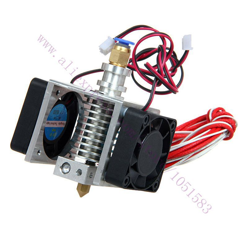 New Version Assembled E3D j head Extruder with 2 cooling fans cables 3D Printer parts 1