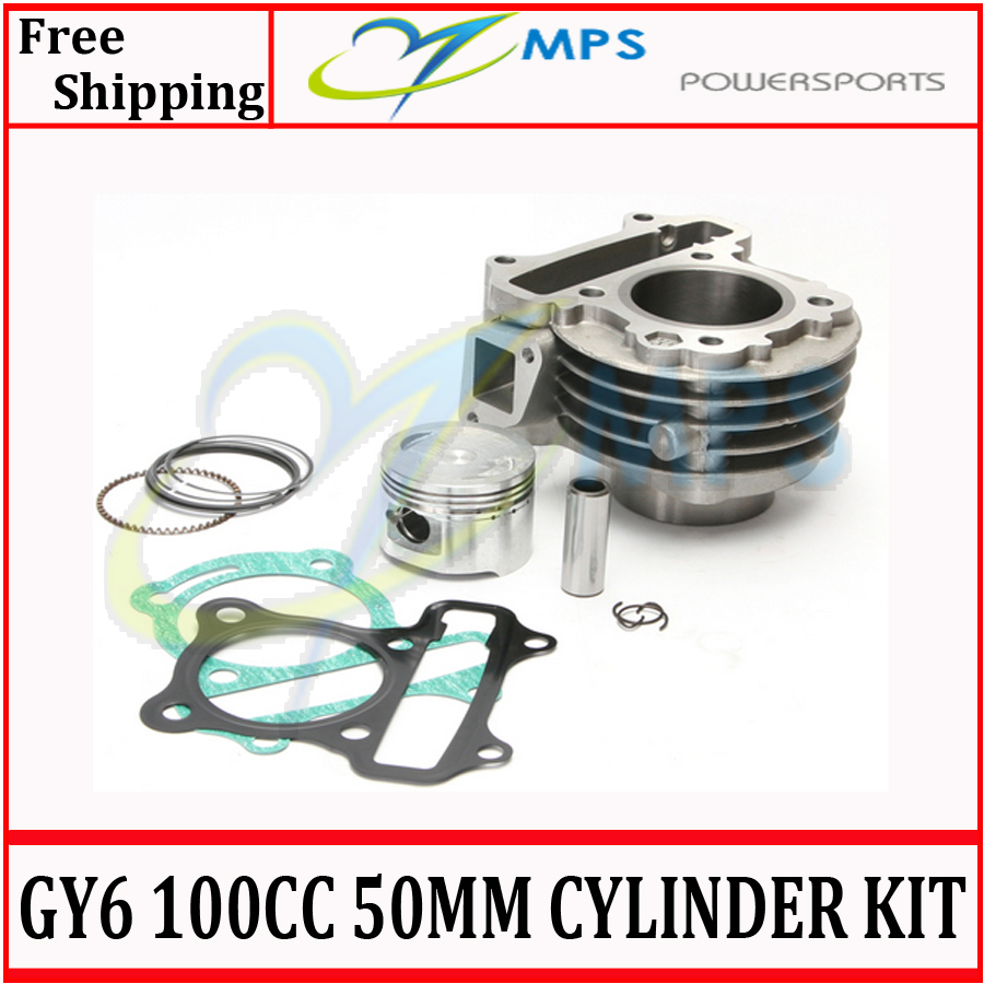 GY6 100cc 50mm cylinder kit (cylinder+piston and ring kit+cylinder gasket set) for 4T 139QMB engine chinese scooters,atv,Quadst(China (Mainland))