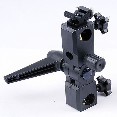 M Bracket Deluxe Adjustable Hot Shoe Flash Mounting Bracket with Swivel Umbrella Mount for most Speedlights and Camera Flashes(China (Mainland))