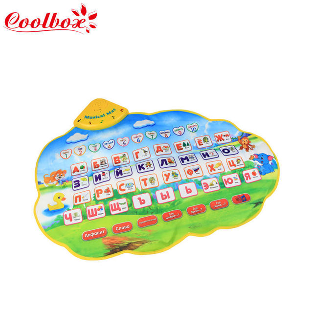 Coolbox CB13341NC 73X49cm Russian Learning Mat /Russian Child's Play Musical Mat for Baby Kids Girls/ dropping