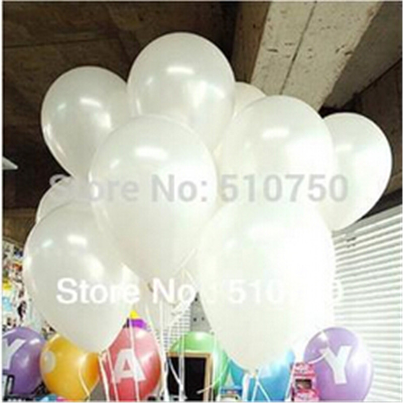 100pc 1.2g 10inch White Latex Helium Balloon Pearl Party Wedding Birthday Decoration Kids Gift Toy - honest fish's store