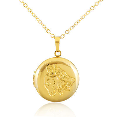 Circular pattern romantic fashion Langtou box pendant 18K gold plated pendant necklace vintage jewelry in Europe valentine NK18(China (Mainland))