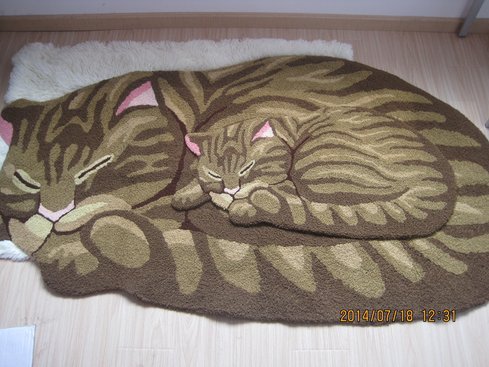Su0026V Sleeping cat carpets tapetes for living room area rugs floor mats bedroom doormat and ...