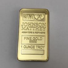 1 шт. Джонсон Матти JM крючок 1 унц. 24 К Настоящее Позолоченные знак 50x28mm сувенирная монета(China)