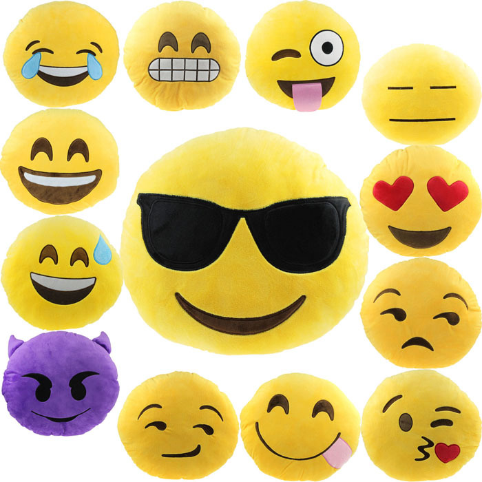 Scolour Car Home Office Accessory Emoji Smiley Cute Cushion Pillow Soft Toy Gift Freeshipping(China (Mainland))