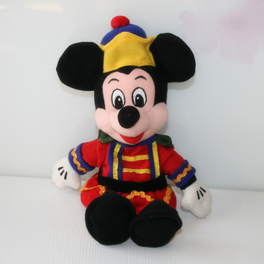 Original Rare Special Nutcracker Mickey Mouse Cute Stuffed Animal Plush Toy Doll Baby Gift Birthday Gift Collection(China (Mainland))