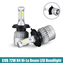 Buy S2 72W H1 H3 H4 H13 COB LED Headlight Bulbs Conversion Kit 8000LM 6500K Single Hi-Lo Beam One Car LED Headlamp Fog Light for $20.54 in AliExpress store