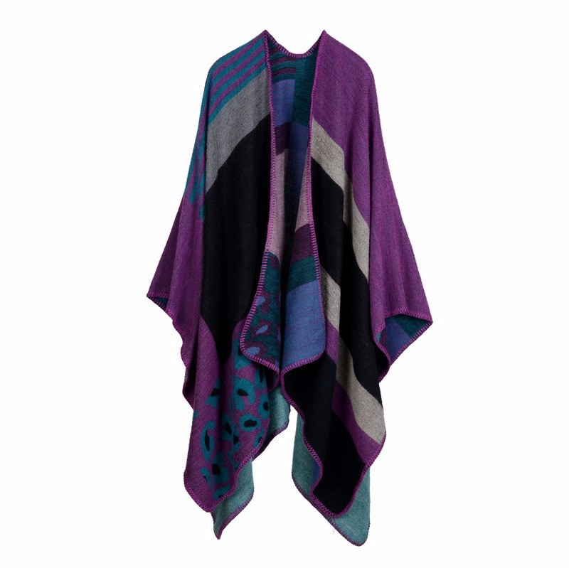 Book Cover Pattern Wool Cashmere Poncho ~ Brand poncho and capes women winter scarf shawl ladies