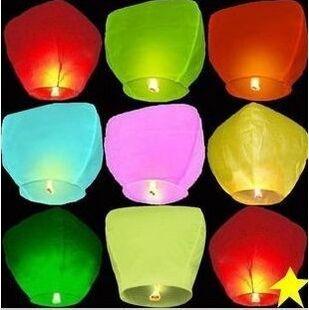 8pcs/lot Kongmin light Chinese Fay Balloon Wishing Lamp Paper Sky Candle Xmas Wedding Flying Party Lanterns(China (Mainland))