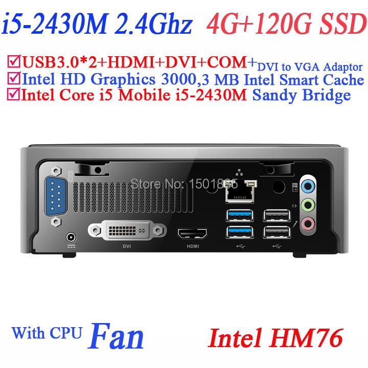 2015 new product mini pc x86,mini pc windows xp with Intel Core i5 2430M 2.4Ghz 4G RAM 120G SSD(China (Mainland))