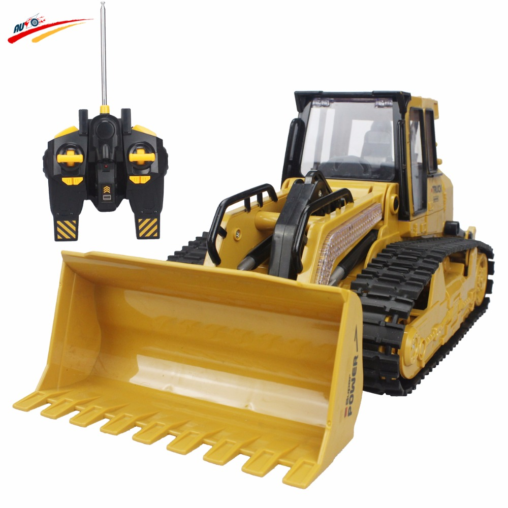 RC Truck Bulldozer 6CH Caterpillar Track Remote Control Simulation Pushdozer Engineering Forlift Truck Construction Model Toys(China (Mainland))