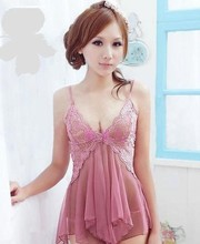 Sex Costumes Uniform Sexy Lingerie Langerie Lace baby doll dress G String Sleepwear Babydoll Chemises pajamas nightgown