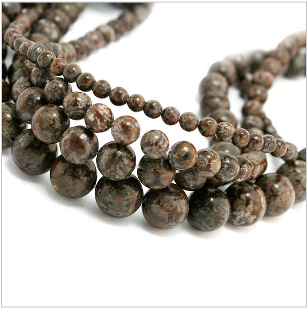 Гаджет  Free Shipping 4/6/8/10 mm Snowflake ( Brown ) Round Natural Stone Beads 15