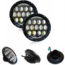 78w Headlamp 7 Inchs Wrangler Led Headlight DRL Jk Tj Fj Cruiser Trucks Road Lights - FACTORY DIRECT SALE CAR LED store