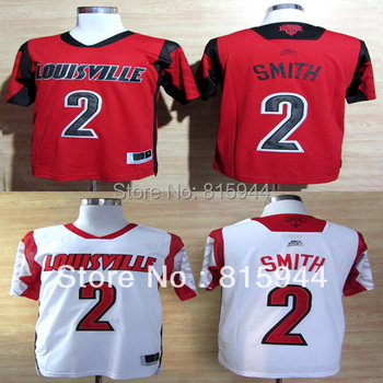 College Louisville Cardinals #2 Russ Smith white/ red basketball ncaa jerseys mix order free shipping