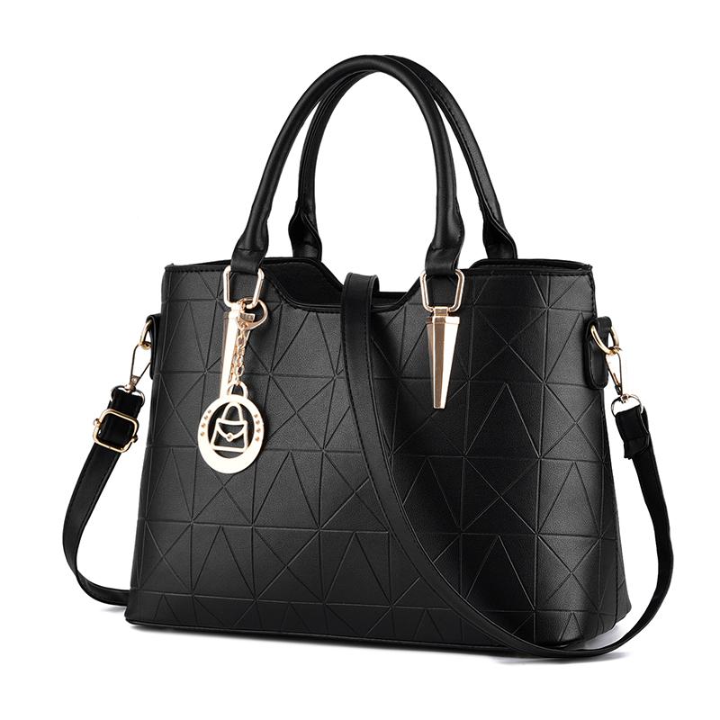 summer Elegant Women Handbag Solid PU Leather Women Big Shoulder Bags Zipper Soft Ladies Bag Bolsas Femininas tote