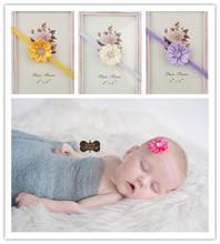 baby headbands Mini polygonal Rhinestone ribbon flowers headband Kids Hair Accessories Baby Christmas Gift(China (Mainland))