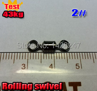 2016 fishing rolling swivels size:2# test 43kg quantity:200pcs/lot made in stainless steel and copper(China (Mainland))