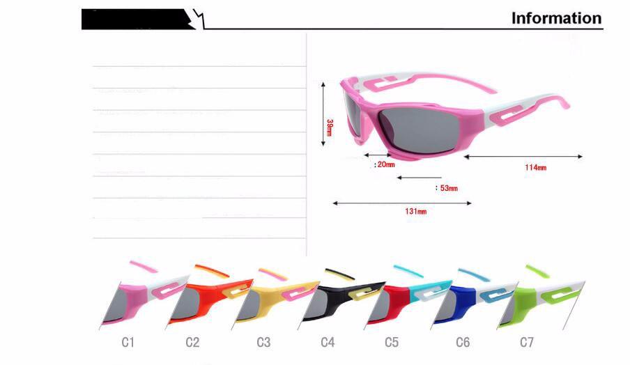 Высокое качество TR90 мягкие дети поляризованных солнцезащитных очков девушка мальчики дети ребенок солнцезащитные очки младенческой оттенки люнет 14816