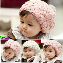 2015 new baby hat kids baby photo props beanie,faux rabbit fur gorros bebes crochet beanie toddler cap for  girl(China (Mainland))