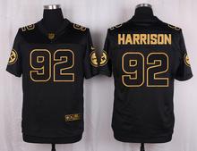 The 50 anniversary black gold men Elite Pittsburgh Steelers 53 Maurkice Pouncey 43 Troy Polamalu 83 Miller 58 Jack Lambert(China (Mainland))