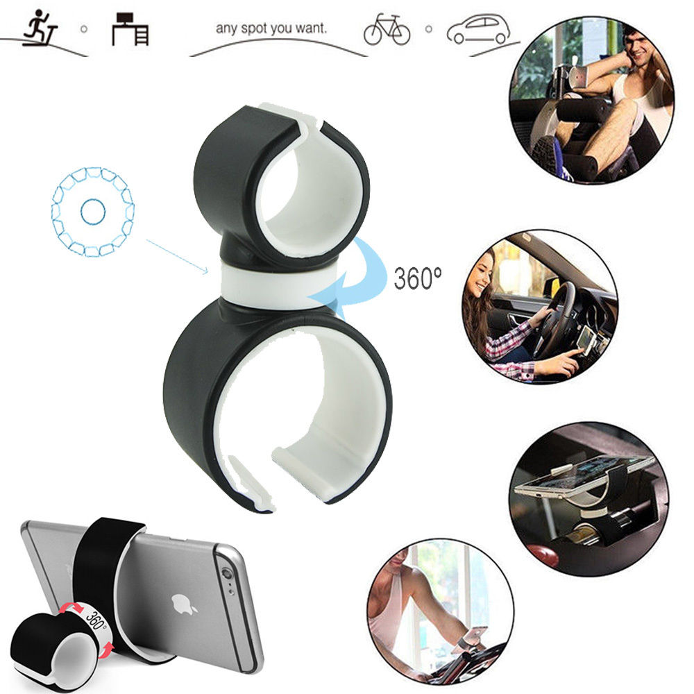 Universal car bike bicycle phone holder Air Vent stand bracket Mount 360 rotate under 6'' bottle Gym use for iPhone Samsung(China (Mainland))