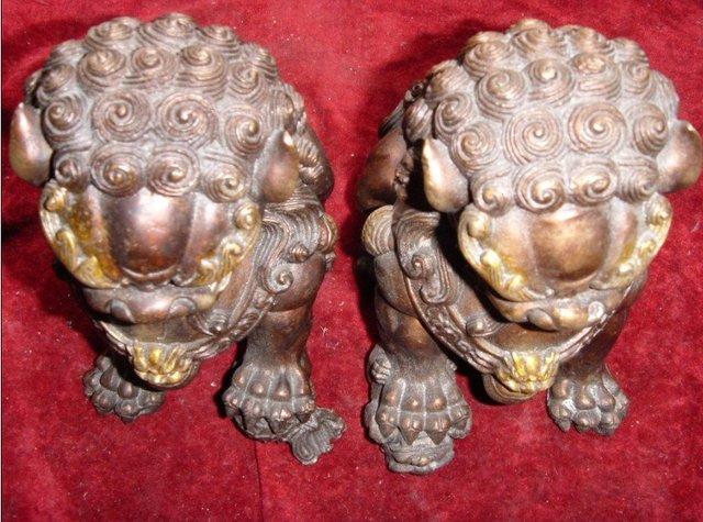 Antique old Tibetan Silver grand silver lion statue