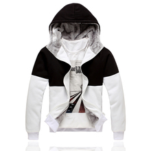 2014 Moleton Tracksuits Selling Cotton Novelty Waffle Full Zipper Puff Sleeve Square Collar Real Hoodies (hoodies(China (Mainland))