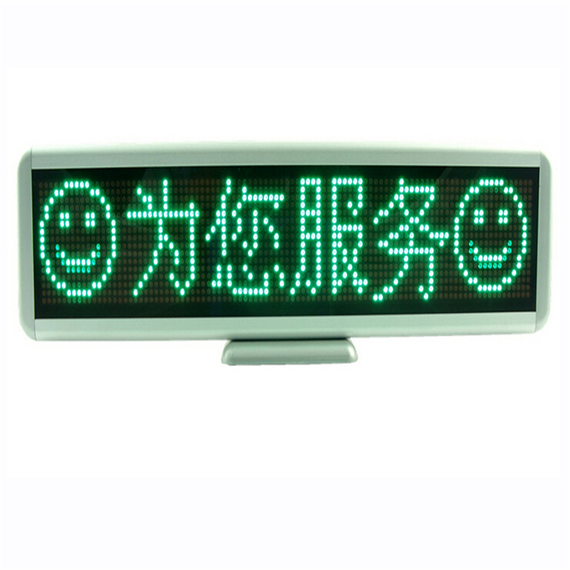 1pcs Green LED Panel Electronic Badges Business Name Card Advertising Screen Scrolling Message Digital Display Tag Sign(China (Mainland))