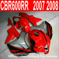 100 fit for Honda injection molding fairings CBR600RR 07 08 red matte black fairings kit CBR